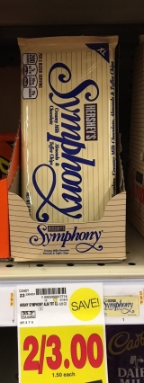 Hershey's Symphony Bar with Toffee & Almonds -- 2 for $3